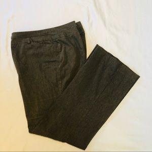 Lane Bryant Pewter Straigt Leg Trousers